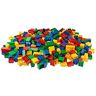 Big Briks - Building Set 100% Compatible with All Major Brands - 3 Large Block Sizes for Ages 3+, Big Pegs in Primary Colors and Yellow, 252 Pieces