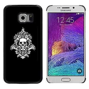 LECELL--Funda protectora / Cubierta / Piel For Samsung Galaxy S6 EDGE -- Modelo del cráneo tribal --