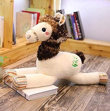lili-nice Juguetes De Peluche Muñeco De Peluche Suave Kawaii Colorido Alpaca/Caballo Juguetes para Niños Niños Bebé Cumpleaños Decoración del Hogar 50Cm