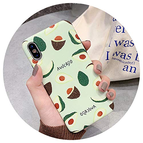 (Cute Summer Tropical Fruit Kiwi Avocado Case for iPhone X XS XS Max XR 6 6S 7 8 Plus Soft IMD Protector Arc Phone Cover,b,for iPhone XR)