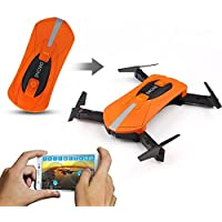 QWinOut JY018 Elfie Mini Foldable Selfie Pocket Drone Fixed High Quadcopter with Wifi Remote Control