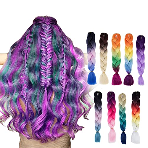 bestheart Color Hair Extensions braids,Hair Extensions Human Clip in Real Hair Extensions Natural Hair,Extensions Straight Hair (A)