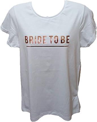 Primark`` - Camiseta - para Mujer Blanco Blanco 46 ES/48 ES ...