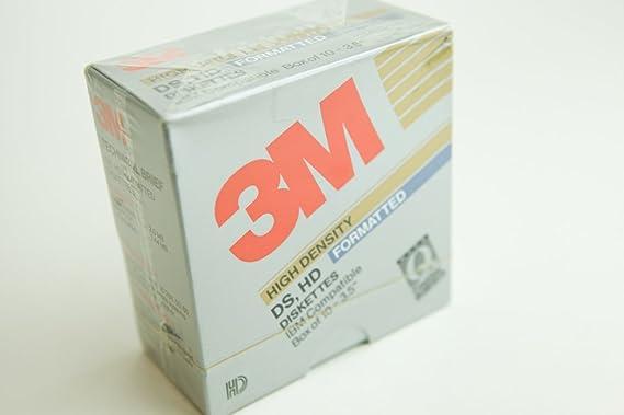 3 M HD de Alta Densidad DS, Formato disquetes: IBM Compatible Caja ...