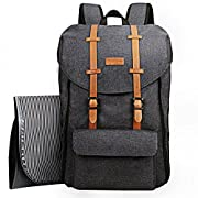 HapTim Multi-Function Large Capacity Baby Diaper Bag Backpack,Double Deck Design,Fashion Cool Kid/Baby Travel Backpack, Gift for Mother Father(5312 Dark Grey)
