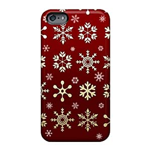 Bumper Hard Cell-phone Case For Apple Iphone 6 (lPG930mNKA) Provide Private Custom Trendy Red Snow Flakes Image