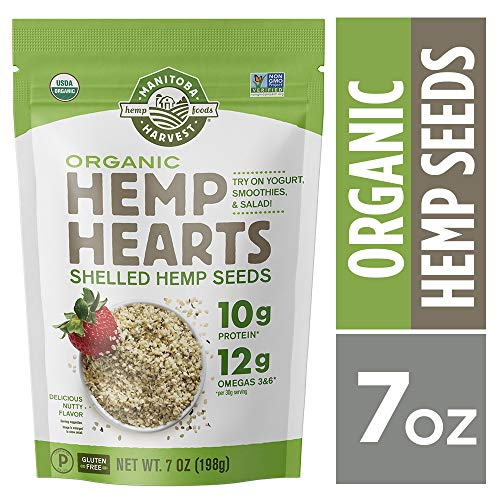 Manitoba Harvest Organic Hemp Hearts Raw Shelled Hemp Seeds, 7oz; with 10g Protein & 12g Omegas per Serving, Non-GMO, Gluten Free ()