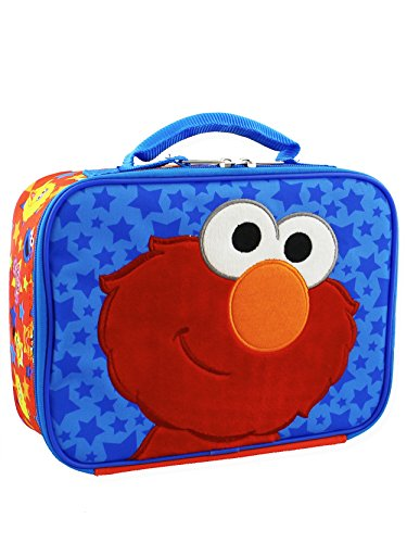 Sesame Street Elmo Toddler Boys Soft Insulated Lunch Box (One Size, Blue/Red)