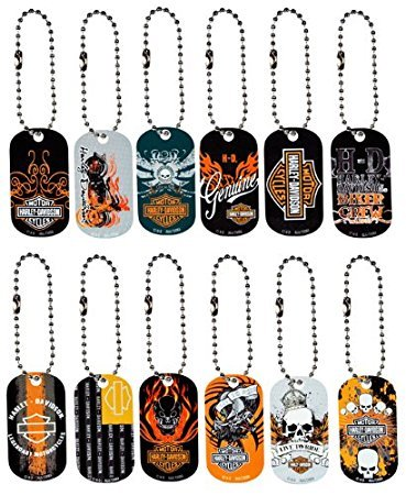 Harley Davidson Dog Tag Key Chains Set of 12 for sale  Delivered anywhere in USA