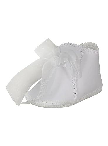ac6466d50c103 Boutique-Magique Chaussons Blancs pour bébé Fille avec Ruban  Amazon.fr  Chaussures  et Sacs