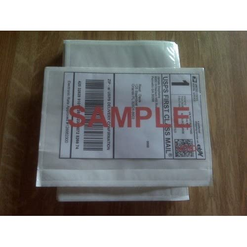 """7"""" x 5.5"""" Clear Adhesive Top Loading Packing List / Label Envelopes Pouches (1000-ct.)"""