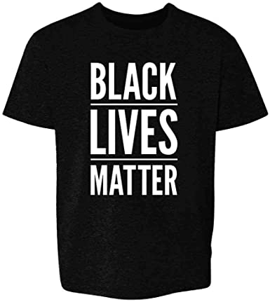 Kids T-Shirt Tops Black Black Lives Matter Unisex Youths Short Sleeve T-Shirt