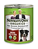 Newman's Own Organics 100% Organic Beef and Liver for Dogs, 12-Ounce Cans (Pack of 12), My Pet Supplies