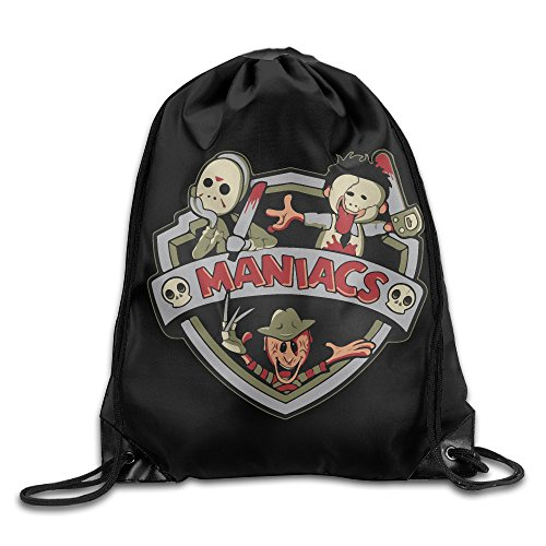 (Unisex The Maniacs Halloween Drawstring Bag Drawstring Backpack Sport Bag Gym Bag 100% Polyester Material Travel Bag For Men)