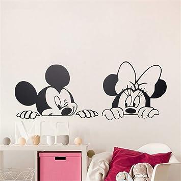 Minnie Mouse Wandtattoo Disney Schone Mickey Mouse Minnie Mouse Fur Kinderzimmer Baby Kinderzimmer Schlafzimmer Zubehor Auto Aufkleber Wohnkultur Amazon De Baumarkt
