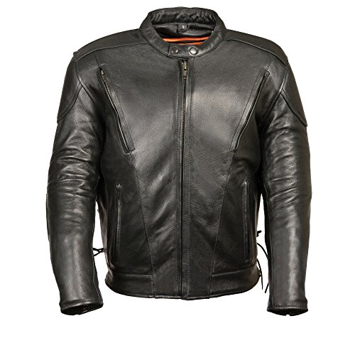 Tall Leather Motorcycle Jacket - 2
