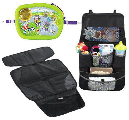Munchkin Travel Set Seat Protector Snack Tray Backseat Organizer