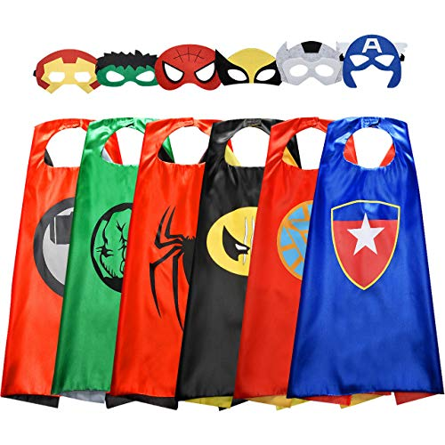 Toys for 3-10 Year Old Girls, Roky Fun Cool Cartoon Superhero Capes Costumes for Camouflage games, Christmas xmas gift stocking stuffers party time, kids