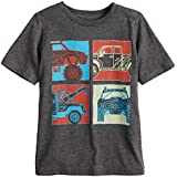 Jumping Beans Boys 4-10 Four Trucks Grid Graphic Tee 4 Charcoal Heather