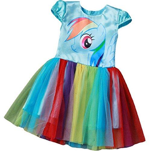 Dashing Rainbow Pony Princess Dress Up Costume from Chunks of Charm (7, Standard)