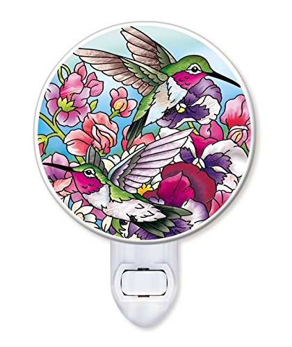 - Amia Hummingbird Glass Night Light