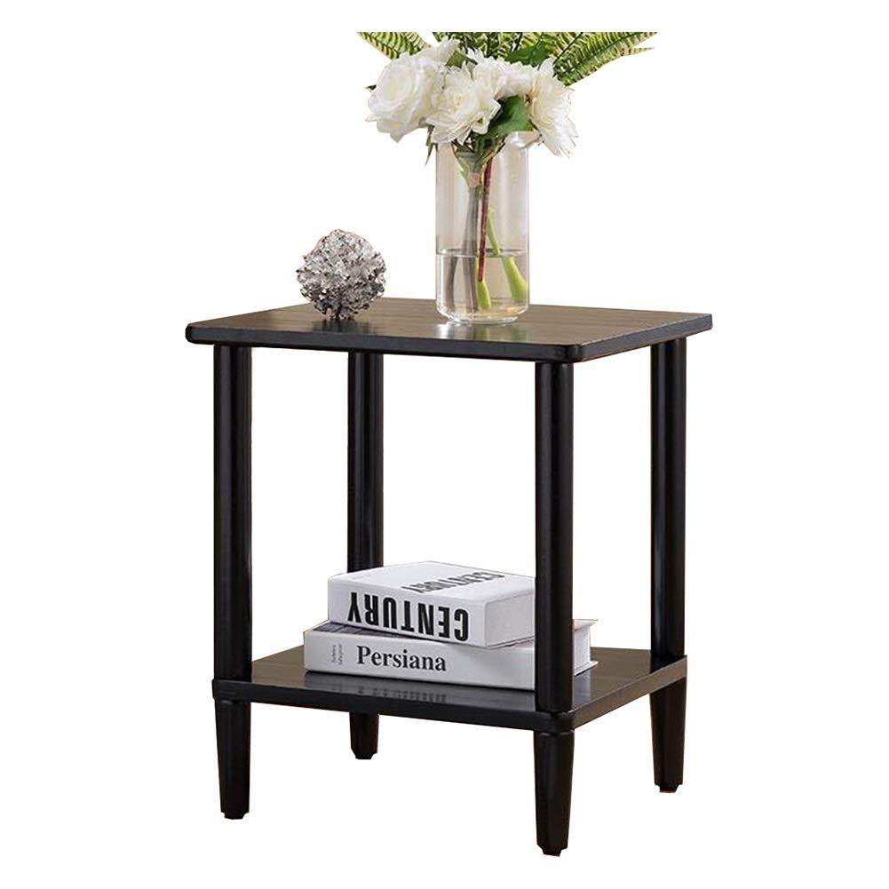 CJC テーブル、 ベッドサイド MDF 表 キャビネット あり 底 ラック ストレージ 単位 (色 : 黒)  黒 B07PQLPP6X