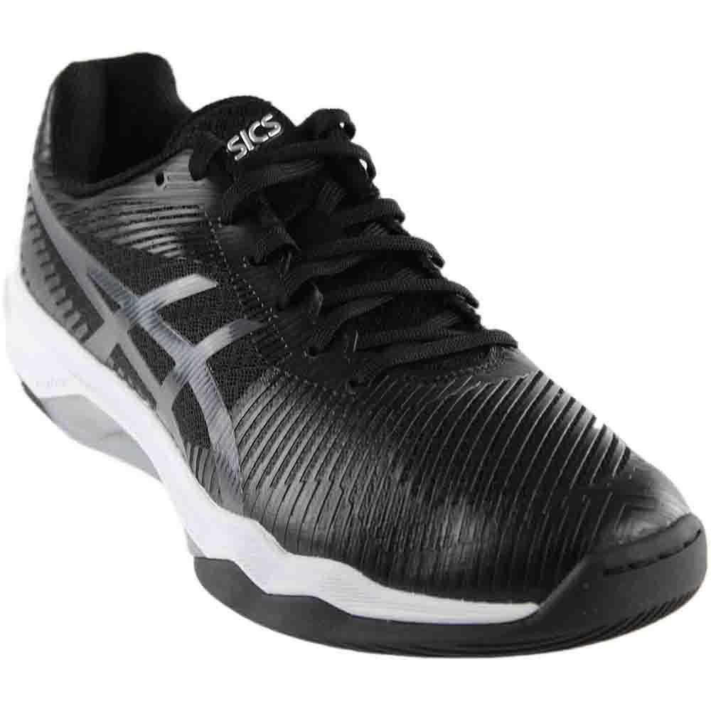 ASICS Women's Volley Elite FF Volleyball Shoe, Black/Dark Grey/White, 10 Medium US