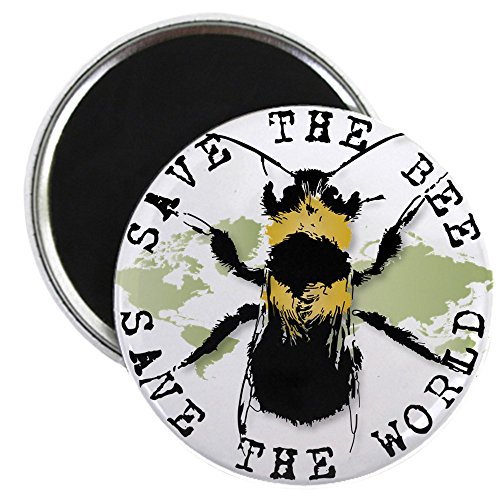 Bee Magnet (CafePress - Save The Bee... - 2.25