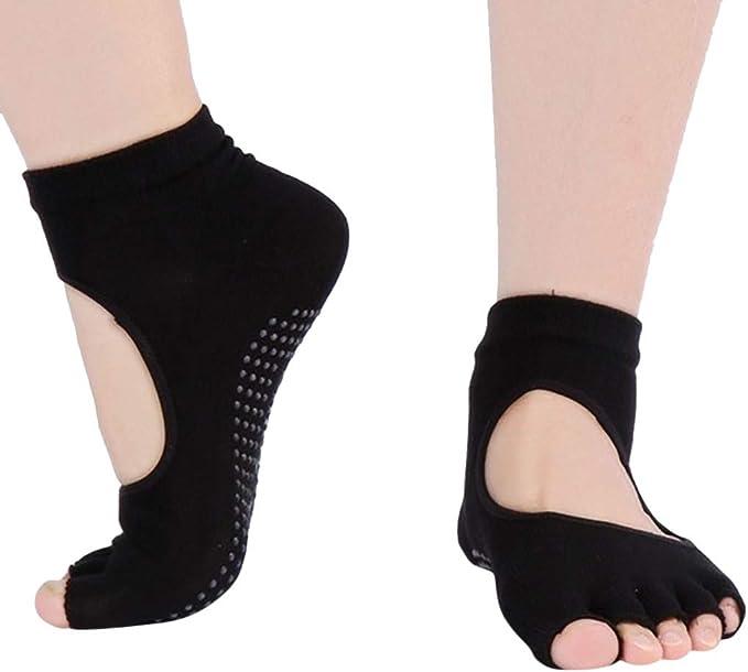 Amazon.com: Calcetines de yoga para mujer con agarre ...