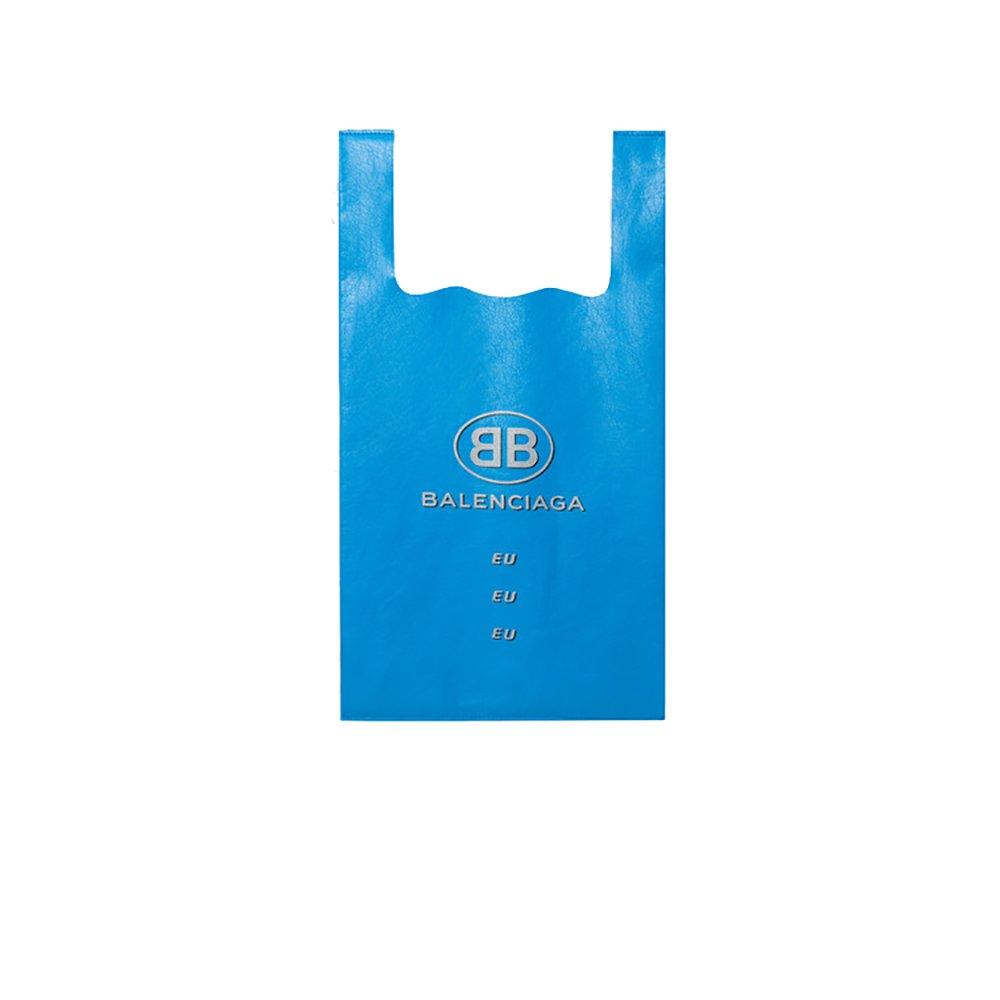 Balenciaga Men's 506781Aou4n4680 Blue Leather Tote