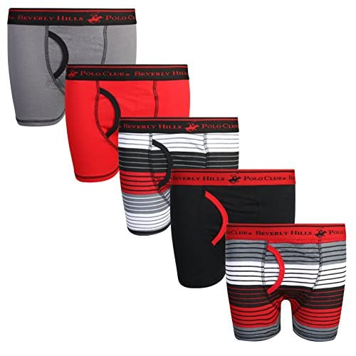 Beverly Hills Polo Club Boys Boxer Briefs Pack of 10