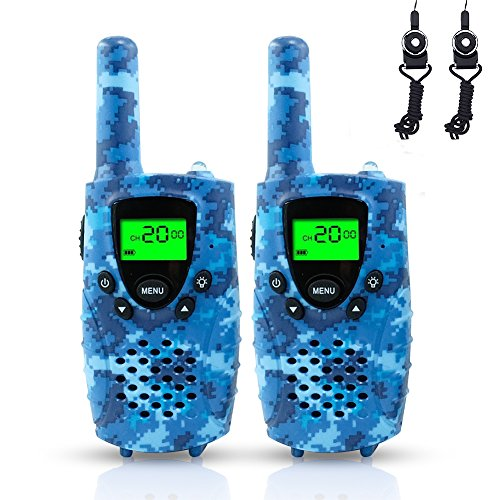 Walkie Talkies for Kids, 2 Pack, Camo Blue