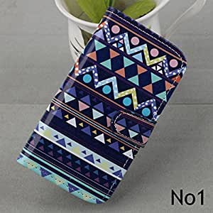 Fashion Wallet Leather Card Case Cover Skin For Samsung Galaxy S4 Mini i9190 Phone (Folk_Style_No1)