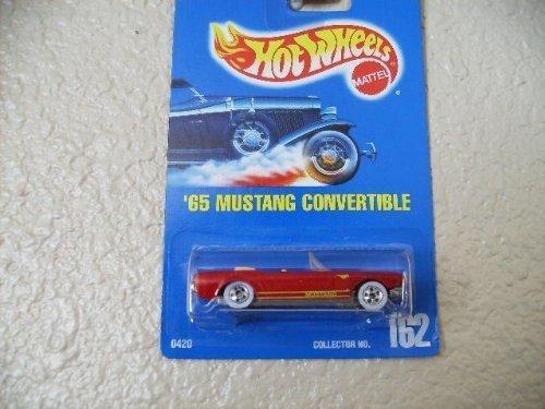 Hot Wheels Blue Card - Hot Wheels 65 mustang convertible all blue card #162 blood red