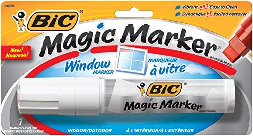 BIC Jumbo Chisel Magic Window Markers, White (BICMWXP11WI)