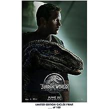 Lost Posters RARE POSTER chris pratt JURASSIC WORLD: FALLEN KINGDOM limited 2018 REPRINT #'d/100!! 12x18