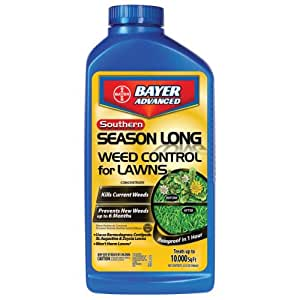 Bayer Advanced 704260A Southern Season Long Weed Control for Lawns Concentrate, 32-Ounces