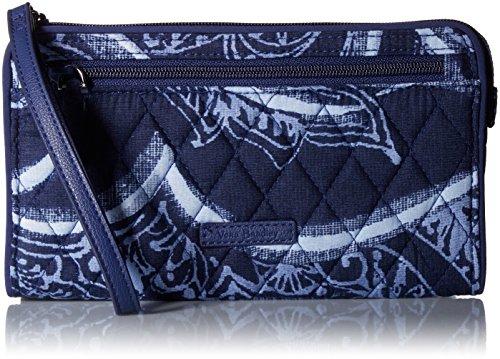 Vera Bradley Rfid Front Zip Wristlet, Signature Cotton,One Size,Indigo by Vera Bradley