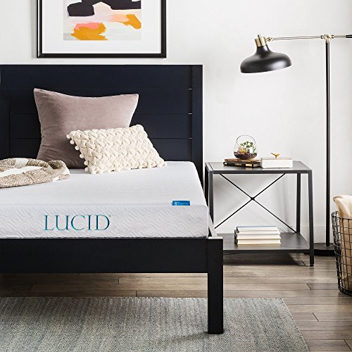 Extra Long Full Mattress - LUCID 6 Inch Gel Infused Memory Foam Mattress - Firm Feel - Perfect for Children - CertiPUR-US Certified - 10 Year warranty - Full