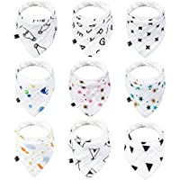 9-Pack JML Bandana Cotton Baby Bibs Set (6-24 Months)