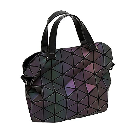 Rhombic Ice Sequins Haoxiaozi Folded Bag Hand B Shoulder Rhomboid Bags Light Geometrical Bag OdYUwqd