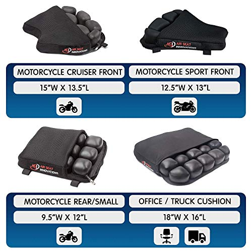 Truck Driver Seat Cushion For Lower Back Pain Relief Sciatica Coccyx Air Comfort Pad Office / Auto / Wheelchair / Trucker / Tractor / Construction 18''x16'' by Air Seat Innovations (Image #7)