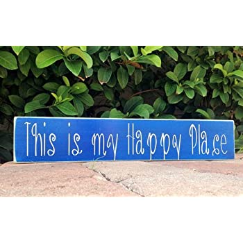 This Is My Happy Place 18x4 Choose Color Custom Rustic Fun Welcome Door Wall