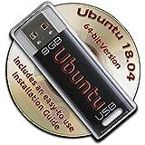 Ubuntu Linux 18.04 on a Bootable 8GB USB Flash Drive - 64-bit Version