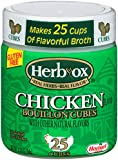 Herb-Ox Chicken Bouillon Cubes, 3.33 Ounce (Pack of 12)