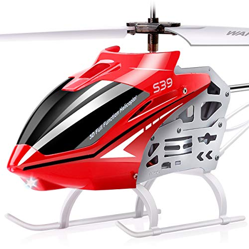 (SYMA RC Helicopter, S39 Aircraft with 3.5 Channel,Bigger Size, Sturdy Alloy Material, Gyro Stabilizer and High &Low Speed, Multi-Protection Drone for Kids and Beginners to Play Indoor-Red)
