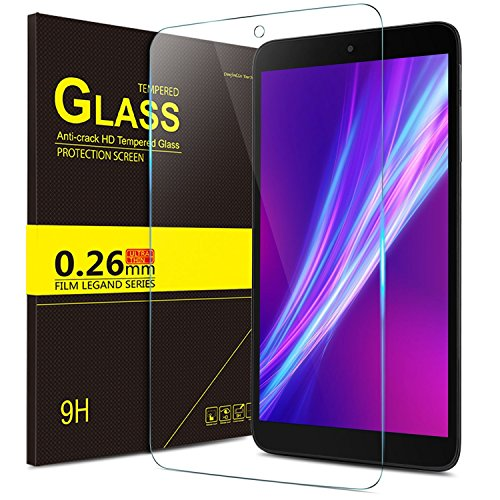 "IVSO Screen Protector for Alcatel A30 Tablet 8"", Tempered Glass with [Scratch-Resistant] [No-Bubble Easy Installation] for T-Mobile Alcatel Dubbed A30 8-inch Tablet Model 9024W 2017 Released(2pcs)"
