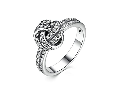 Amazon.com: Dixey Luxury Anillos 925 Sterling Silver LOVE ...