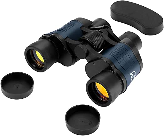 60X60 Zoom Day Night Vision Outdoor HD Binoculars Hunting Telescope Case Set