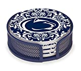 Thirstystone VPASU3-HA23 Stoneware Drink Coaster Set with Holder, Penn State University Pattern
